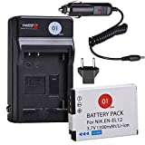 EN-EL12 DOT-01 Battery and Digital Wall Charger Compatible with Nikon Key Mission 360, Nikon Coolpix AW130, A900, W300, S1200pj, S9900, S9500, S9300, S9200, S8200, S6300 (1 Pack, 1500mAh, 3.7V)