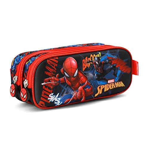Spiderman Smash-3D Doppelfedermppchen Astuccio, Blu, poliestere