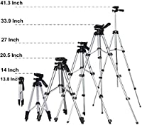 Material: Aluminium Alloy,Three-Way Head:The tripod's three-way head allows for ultimate versatility. Easily change the orientation of the camera from portrait to landscape--and almost any angle in between with the handy tilt motion. Turn the knobs t...