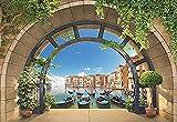 Papier Peint 3D Venise Arc De Gondole Vue Papier Peint Papier Peint Papier...