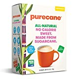 Purecane Zero Calorie Sugar Substitute | Made from All Natural Sugar Cane | Diabetes-friendly | Keto-friendly | Gluten-free | 100 Count Sachets, Purecane, 4.6 Ounce