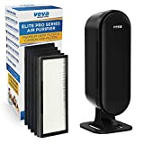 VEVA 8000 Elite Pro Series Air Purifier HEPA Filter & 4 Premium Activated Carbon Pre Filters Removes Allergens, Smoke, Dust, Pet Dander & Odor Complete Tower Air Cleaner Home & Office, 325 Sq Ft.