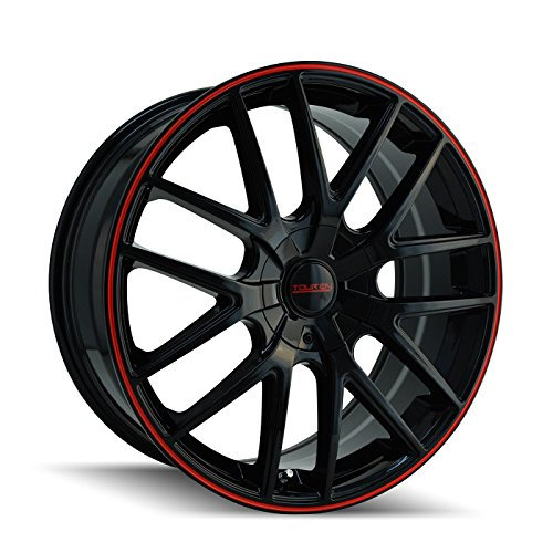Touren TR60 3260 Wheel with Black Finish with Red Ring (17x7.5'/5x110mm)