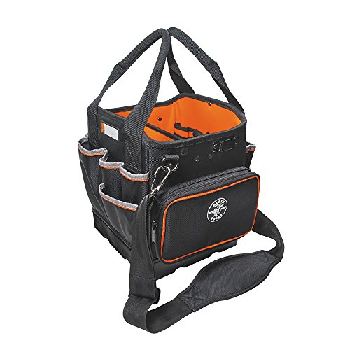 Tool Bag with Shoulder Strap Has 40 Pockets for Tool Storage and Orange...