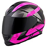 ScorpionEXO EXO-T510 Full-Face Fury Adult Street Motorcycle Helmet - Black/Pink/X-Large