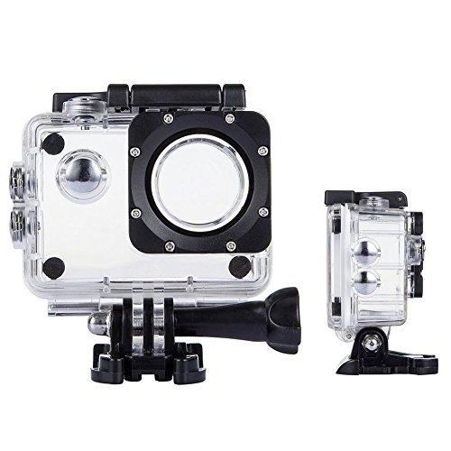 Tekcam, custodia protettiva professionale impermeabile per SJ4000WiFi, Akaso EK7000, Apeman 4K, Victure, Odrvm, action camera