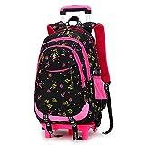 Mochilas escolares con mochilas con ruedas, maletas escolares con ruedas para niños, mochilas trolley para niños, mochilas escolares con ruedas para niños de dos ruedas-black