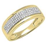 Dazzlingrock Collection 0.40 Carat (ctw) 14K Round White Diamond Men's Flashy Pinky Wedding Ring,...