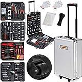 Valise à outils 899 pièces Poignée télescopique Malette à outils à...