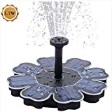 HTYX Solar Fountain 1.7W Floating Pond Geyser Petal Pump Pump for Bird Bath Fish Tank Pond Pool Garden and Lawn Beautiful Decoration No Electricity Required
