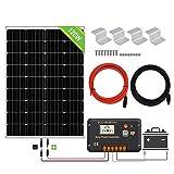 ECO-WORTHY Panneau solaire 120W, Contrôleur de charge solaire 20A, Câble de 5m, Support de montage pour...