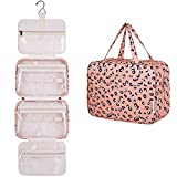 Large Hanging Toiletry Bag Travel Makeup Bag Cosmetic Organizer for Women and Girls (Leopard)