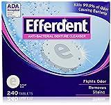 Efferdent Anti-bacterial Denture Cleanser, 2-Pack