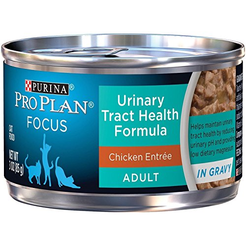Purina Pro Plan Urinary Tract Health Gravy Wet Cat Food, FOCUS Urinary Tract Health Formula Chicken Entree, 3Oz (Pack of 24)