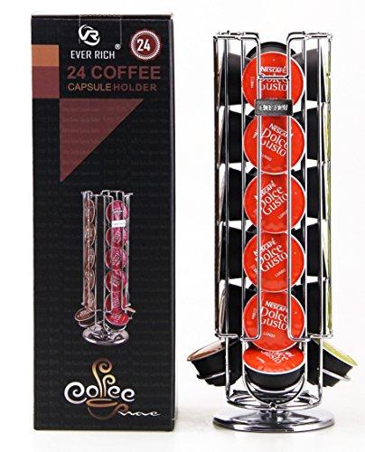 Portacapsule da caffè; girevole, per 24/32 capsule, compatibile con capsule Dolce Gusto (24 DOLCE GUSTO)