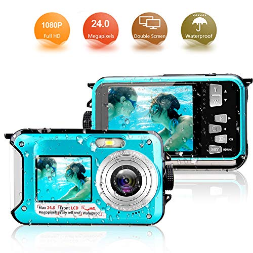 Appareil Photo Etanche 1080p fhd 24 MP Appareil Photo Numérique Appareil...