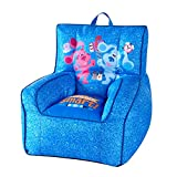 Idea Nuova Nickelodeon Blue's Clues Toddler Nylon Bean Bag Chair with Piping & Top Carry Handle