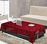 Kuber Industries Cotton 1 Piece 4 Seater Center Table Cover (Maroon) -CTKTC5806
