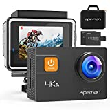APEMAN A80 Action Camera 4K 20MP Wi-Fi Sports Cam 4X Zoom EIS 40M Waterproof Underwater Camcoder with 19 Accessories and Carring Case, for Yutube/Vlog Videos