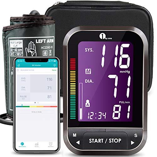 Misuratore Pressione Bluetooth da Braccio Digitale, 1byone Sfigmomanometro Monitor Wireless per App...