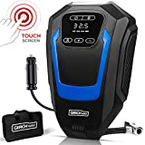 GERCHWAY Tire Inflator Portable Air Compressor for Car – Digital Touchscreen Air Pump for Car Tires – Long Cord & Auto Shut Off