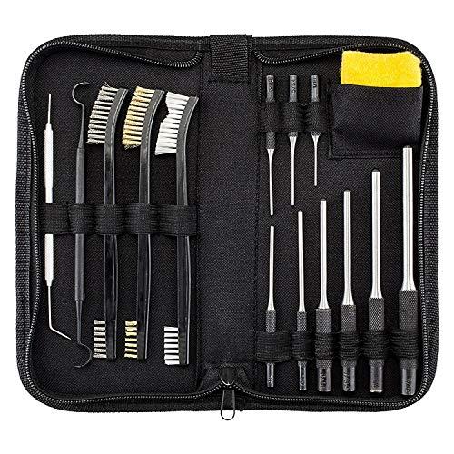 BOOSTEADY Kit de Nettoyage pour Fusil Tout-en-Un avec Kit Chasse-goupilles, kit de brosses de Nettoyage pour Fusil, Chiffon en Silicone antirouille...
