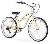 Firmstrong Urban Lady 7-Speed Beach Cruiser Bicycle, 26-Inch, Vanilla