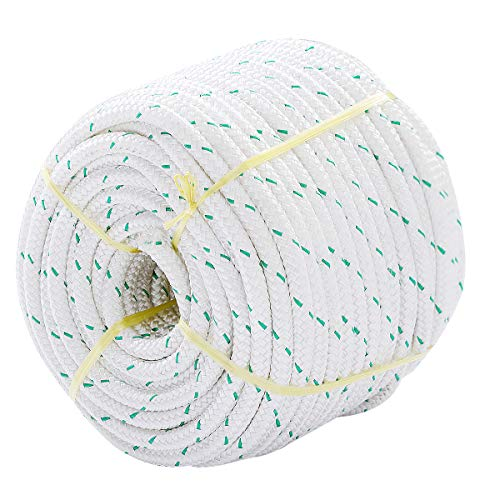 Giantex 3/7' Durable Braid Polyester Rope, 150 ft Heavy Duty Rope for...