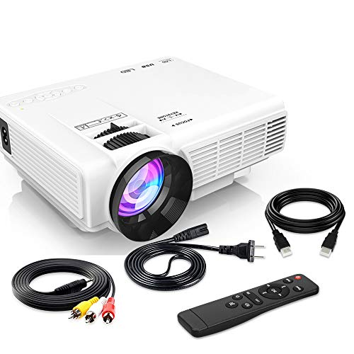 [Latest Upgrade] 4500Lumens Mini Projector, Full HD 1080P 170' Display Supported, PS4,TV Stick, Smartphone, USB, SD Card Supported, Great for Home Theater Movies