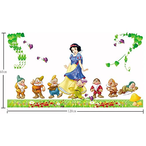 1 X Gadfly-large Snow White and the Seven Dwarfs Peel & Stick Nursery/baby Wall Sticker Decal