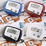 AMPM24Primeridian Lightweight Design Belt Clip for Easy Use Mini Digital LCD Run Step Pedometer Walking Distance Counter ABS up to 99999 Steps