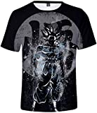 FLYCHEN Homme T-Shirts à Manches Courtes Dragon Ball Super Son Goku 3D...