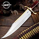 Gil Hibben Old West Bowie Knife - Bloodwood Edition - Stainless Steel...