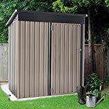 U-MAX 5' x 3' Outdoor Metal Storage Shed, Steel Garden Shed with...
