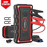 Lithium Jump Starter, YABER Upgrade Portable Jump Starter Box 1600A Peak 20000mAh (All Gas / 7.0 L Diesel) Auto Battery Booster 12V with Smart Jumper Cables Built-in LED Flashlight for Outdoor Anytime