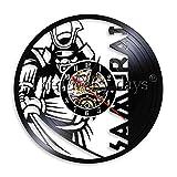 SSCLOCK 1 Pièce Vintage Samourai Féroce Disque Vinyle Horloge Murale...