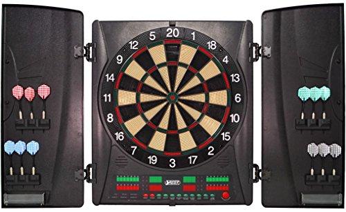 Best Sporting elektronische Dartscheibe Wembley Kabinett, Turnier LED Dartboard mit Netzteil und Dartpfeilen