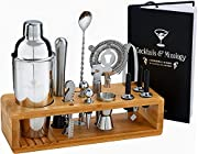 ♛ DELICIOUS COCKTAILS – Imagine tasting the rich flavor of your favorite, freshly prepared cocktail at the comfort of your home. Our gorgeous bartender set lets you do just that – create delicious, bar quality drinks on demand, whenever you want. Our...