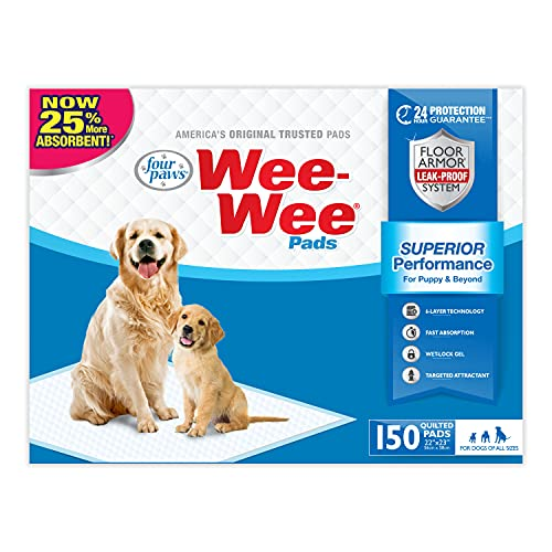 Four Paws Wee Wee Absorbent Pads for Dogs Standard...