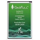GadFull Batterie Compatible avec Samsung Galaxy Note 3 | 2020 Date de Production...