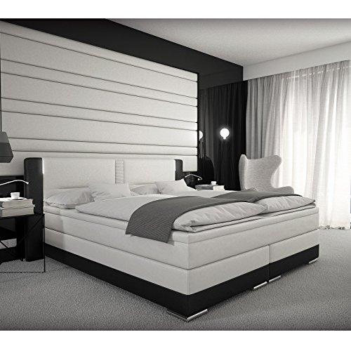 SEDEX Boxspringbett 180x200 cm Bett Doppelbett Hotelbett Komplettbett Designerbett inkl. LED