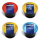 Lavazza Blue Capsules Coffee Pods, Best Value Variety Pack - Top Class, Gold Collection, Decaf Dek and Caffe Crema for Lavazza BLUE Single Serve Espresso Machine Classy Plus/Mini, 25 Each, 100-Count