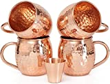 Set of 4 Moscow Mule Copper...