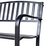 Ldk Garden Gartenbank aus Stahl, Schwarz Antik - 3