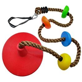 Xinlinke Tree Climbing Rope and Kids Disc Swing Seat Set Outdoor Backyard Playground Accessories