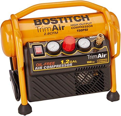 BOSTITCH Air Compressor for Trim, Oil-Free,...