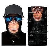 Colorful Damen/Herren Multifunktionstuch   Sturmmaske   Bandana   Schlauchtuch   Halstuch für Motorrad Fahrrad Ski Paintball Gamer Karneval Kostüm 3D Tiere Maske (B)