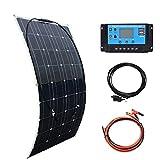 XINPUGUANG Kit de panneau solaire souple monocristallin de 100w 18v + 10 un contrôleur 12v / 24v pour le...