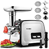Powerful ALTRA Electric Food Meat Grinder, Heavy Duty Multifunction Meat Mincer Sausage Stuffer with...