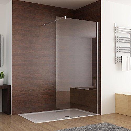 Duschabtrennung walk in Duschwand Seitenwand Dusche 10mm NANO Glas Duschtrennwand 120 x 200 cm
